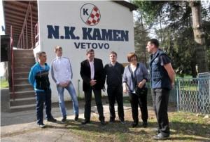 Željke Antunović predstavnicima NK Kamen Vetovo