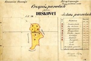 Drškovci pregledna karta