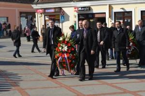 Izaslanstvo Grada Požege, gradonačelnik Neferović sa zamjenicima, predsjednik Gradskog vijeća Smolčić sa potpredsjednikom