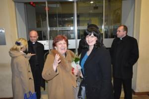 Korizmena tribina 13.ožuka 2014. - Lj. Vokić i Ž.Krstanović u srdačnom susretu