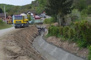Uređenje potoka u Dervišagi