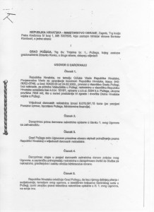 Ugovor Grad i Ministarvo obrane  1