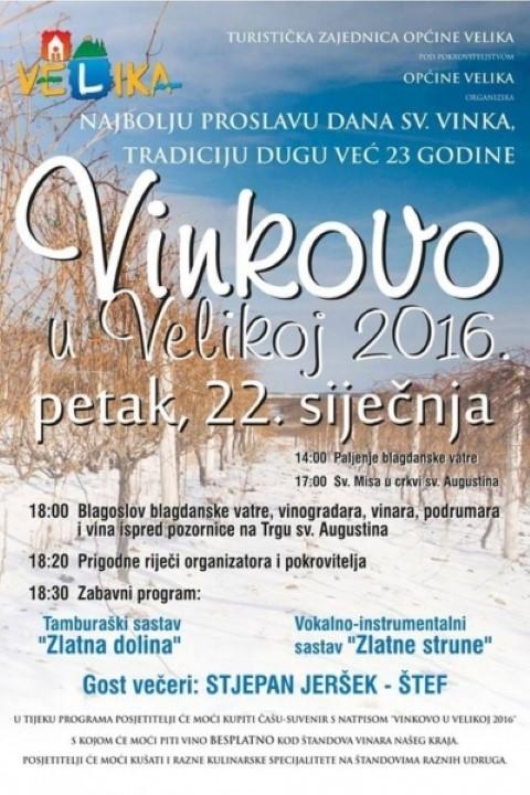 Vinkovo u Velikoj plakat 2016.