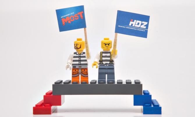 Most i HDZ ilustracija