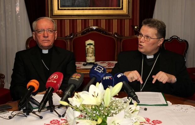 biskup Škvorčević i nadbiskup Hranić